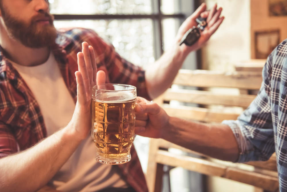 What should I do when someone offers me a drink after alcohol rehab in NJ?