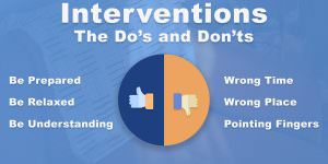intervention do's and don'ts