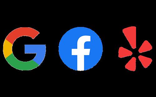 Google, Facebook and Yelp Reviews